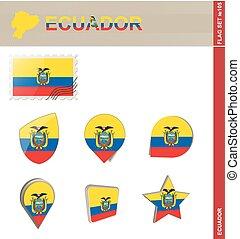 ensemble, ensemble, drapeau equateur