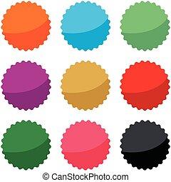 ensemble, eps, cachet, vecteur, vide, design., étoile, cercle, 10., illustration, gabarit