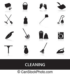 ensemble, eps10, nettoyage, icônes