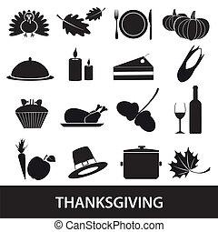 ensemble, eps10, thanksgiving, icônes