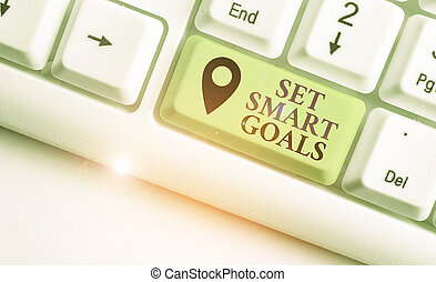 ensemble, establish, projection, business, achievable, photo, objectifs, bon, plans., écriture, faire, intelligent, showcasing, note, goals.