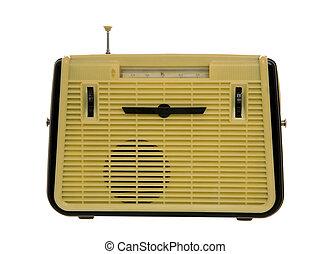 ensemble, façonné, vieux, radio