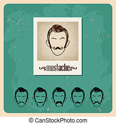 ensemble, faces, moustaches