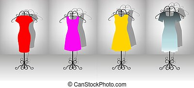 ensemble, femme, robes