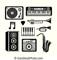 ensemble, festival, instruments, musique, professionnel, événement
