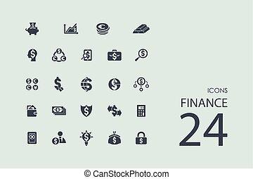 ensemble, finance, icônes