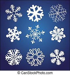 ensemble, flocon de neige