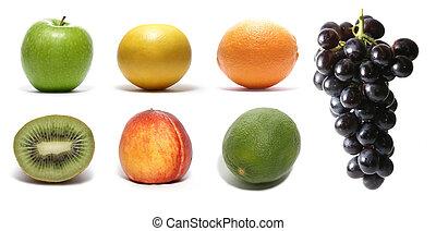 ensemble, fruits
