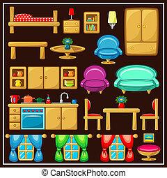 ensemble, furniture.