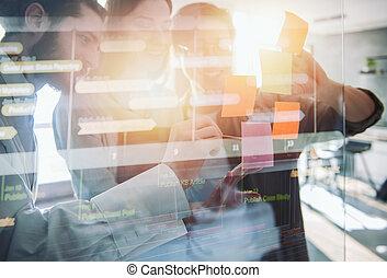 ensemble., gens, association, collaboration, travail, reussite, concept, business