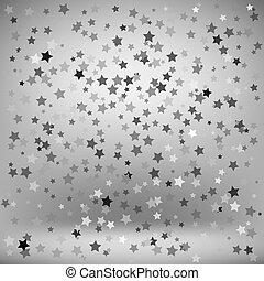ensemble, gris, étoiles