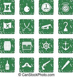 ensemble, grunge, pirate, icônes