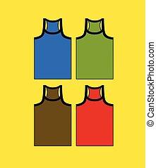 ensemble, gym-vest, coloré