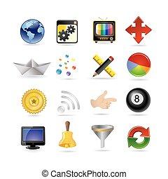 ensemble, icône internet