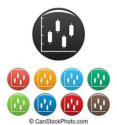 ensemble, icônes, collection, diagramme, nouveau, cercle