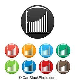 ensemble, icones affaires, collection, diagramme, cercle