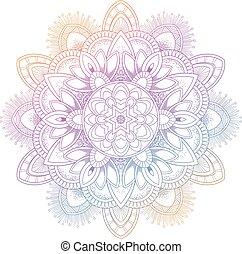 ensemble, illustrateur, vendange, mariage, inde, élément, mandala, arrière-plan., vecteur, modèle, abstrack, invitation, yoga, méditation, color., carte