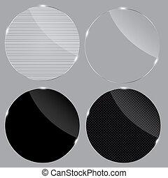 ensemble, illustration., frames., réaliste, verre, vecteur