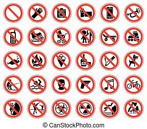 ensemble, interdire, signes
