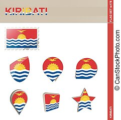 ensemble, kiribati, drapeau, ensemble, #178
