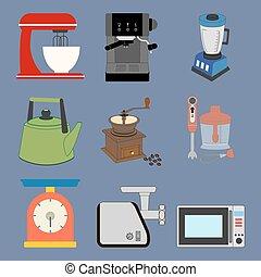 ensemble, kitchenware, icônes