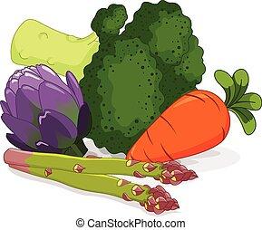 ensemble, légumes