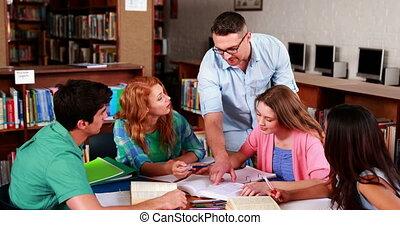 ensemble, li, fonctionnement, étudiants
