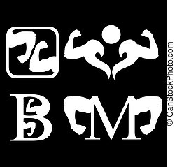 ensemble, logos, musculation