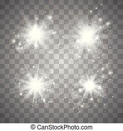 ensemble, lueur, lumière