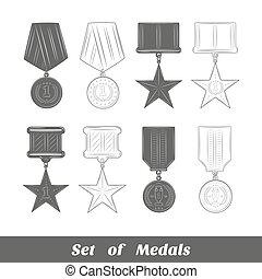 ensemble, médailles