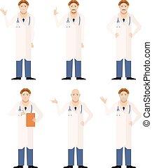 ensemble, médecins