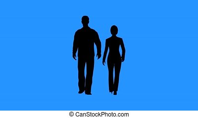 ensemble, marche femme, homme