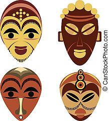 ensemble, masque, africaine