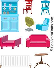 ensemble, meubles