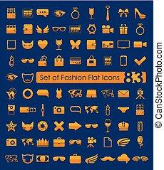 ensemble, mode, icônes