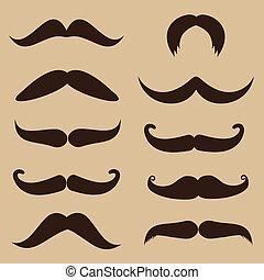 ensemble, moustache
