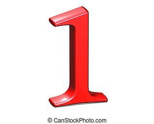 ensemble, nombre, fond, blanc rouge, 3d