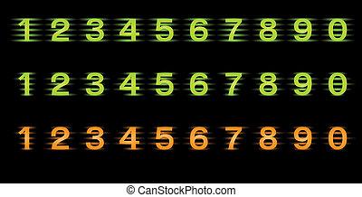 ensemble, nombres, vecteur