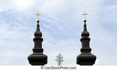 Ensemble of Serbian buildings in Timisoara, Romania