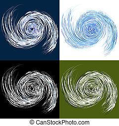 ensemble, ouragan, dessin