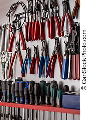 ensemble, outils, différent