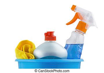 ensemble, outils, nettoyage