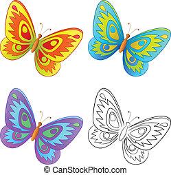 ensemble, papillon