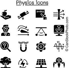 ensemble, physique, icône