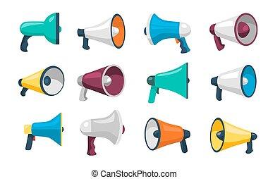 ensemble, prise parole public, haut-parleurs
