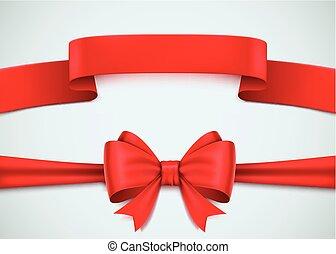 ensemble, réaliste, arrière-plan., blanc rouge, ruban