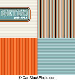 ensemble, résumé, patterns., seamless, quatre, retro