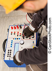 ensemble, relais, inspecter, système, équipement, entretien...