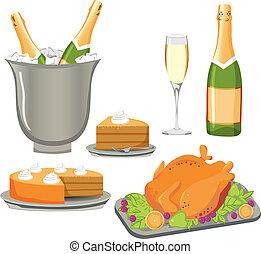 ensemble, repas, célébration