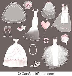 ensemble, robes, mariage